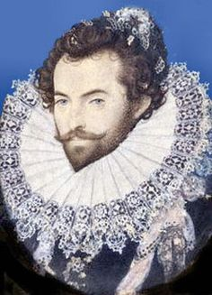 Sir Walter Raleigh ~ by Nicholas Hilliard (English, ~ Nicholas Hilliard was an English goldsmith and artist best known for his portrait miniatures of members of the courts of Elizabeth I and James I of England. Great Fire Of London, The Great Fire, Walter Raleigh, Elisabeth I, Roanoke Island, Renaissance Portraits, Today In History, Oil Painting Reproductions, American Revolution