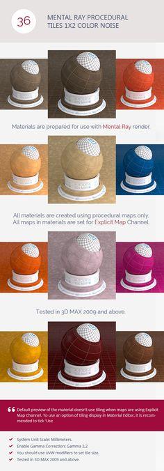 Mental Ray Procedural Tiles 1x2 Color Noise ...  3d model, 3ds max, album, bricks, ceramic, collection, exterior, interior, materials, procedural, set, shaders, stone, textures, tiles