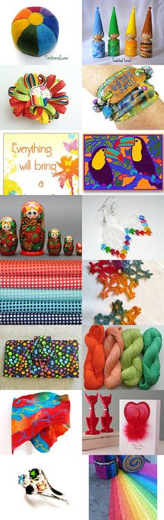 Spectrum!!  by Celebration Times Team by Virginia Soskin on Etsy--Pinned with TreasuryPin.com