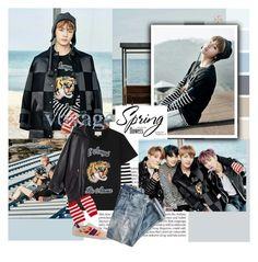 """BTS: KIM TAEHYUNG"" by janjanzira-1 ❤ liked on Polyvore featuring Martha Stewart, Michael Kors, Gucci, J.Crew, Alexander Wang, men's fashion and menswear"