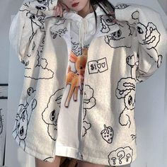 Harajuku Fashion, Kawaii Fashion, Tumblr Outfits, Trendy Outfits, Cute Pants, Love Is In The Air, Hoodies For Sale, Cute Jackets, Kawaii Clothes