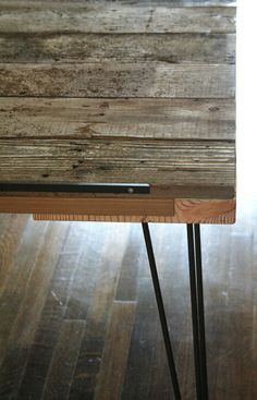 industrial rustic modern dining table for six from by birdloft, $700.00