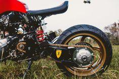 Rosso Corsa: A Honda CB600F Cafe Racer Inspired by a Ferrari