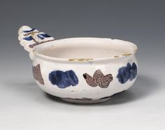 A rare London Delft bleeding bowl circa 1680