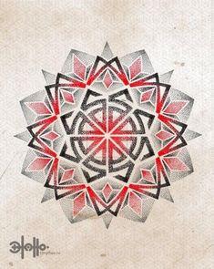 Best Geometric Tattoos And Symbolism Geometric Mandala Tattoo, Mandala Sleeve, Mandala Tattoo Design, Mandala Dots, Geometric Art, Tattoo Designs, Acab Tattoo, Band Tattoo, Tatoo Art