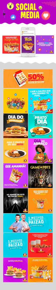 Social Media - Frango no Pote on Behance