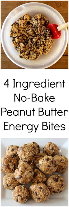 Healthy energy bites that taste just like peanut butter oatmeal cookie dough! Healthy energy bites that taste just like peanut butter oatmeal cookie dough! Healthy Protein, Protein Snacks, High Protein, Protein Bars, Energy Snacks, Healthy Energy Bites, Vegan Energy Balls, No Bake Energy Bites, Diet Snacks