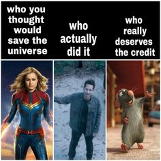 I didn't think Captain Marvel would. I thought it would be Captain America, Ir I didnt think Captain Marvel would. I thought it would be Captain America Ir Marvel Jokes, Funny Marvel Memes, Dc Memes, Avengers Memes, Marvel Dc Comics, Marvel Heroes, Marvel Avengers, Funny Memes, Hilarious