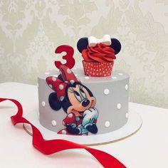 Mini Mouse Birthday Cake, Sofia The First Birthday Cake, Pig Birthday Cakes, Minnie Birthday, Birthday Cake Girls, Minnie Mouse Cake Design, Minnie Cake, Mickey Cakes, Mickey Mouse Cake