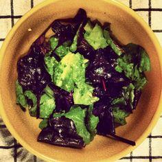 Beet and Buttercrunch Greens Salad