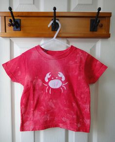 Toddler red crab T-shirt (3T) by peacebabybatiks on Etsy