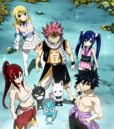 Erza, Happy and Wendy