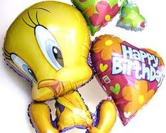 Foil balloons with happybirthday message #foilballoons