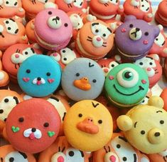 Macarons with cute animal faces