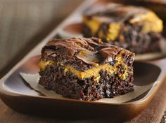 Pumpkin Swirl Brownies.  I am in the mood for baking!  You can freeze these for up to 6 months LOL.. Good to know, but they would never last that long in my house