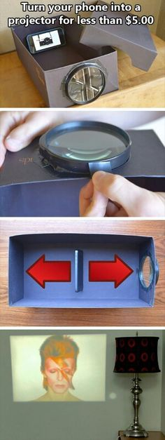 Turn your phone into a projector.