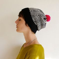 Hey, I found this really awesome Etsy listing at https://www.etsy.com/listing/171865215/scallop-knit-hat-geometric-pattern-wool
