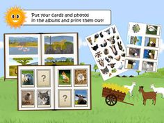 App of the Week: Find Them All- looking for animals animal learning app). Free on Android and iOS! Free Games For Toddlers, Educational Apps For Kids, App Of The Day, Great Apps, Wildlife Safari, Down On The Farm, Toddler Preschool, Create Yourself, Learning