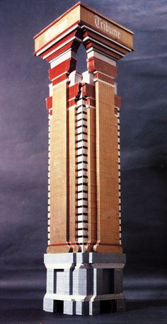 """Robert A. Stern, Late Entries to the Chicago Tribune Tower Competition, Chicago, Illinois, 1980 """"Our project for the new Chicago Tribune Tower takes its primary reference Adolf Loos' entry in the. New Classical Architecture, Paper Architecture, School Architecture, Residential Architecture, Chicago City, Chicago Tribune, Chicago Illinois, Shop Buildings, Metal Buildings"""