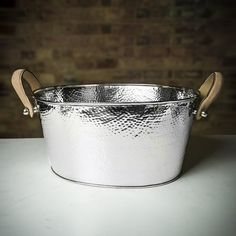 Culinary Concepts Champagne Bath 'Let's Get Hammered' With Leather Handles - Small Champagne Buckets, Champagne Bottles, Composting At Home, Drinks Cabinet, Personalised Box, Stitching Leather, Party Drinks, Leather Handle, Laser Engraving