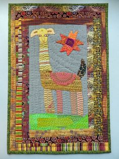 Como Se Llama? by Kristin Shields.  Hand embroidered quilt.