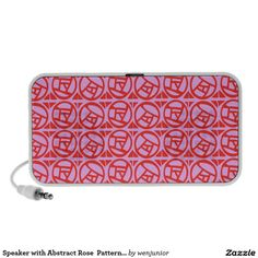 Speaker with Abstract Rose  Pattern by Wenjunior