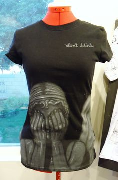 Weeping Angels Fitted Tee (large) oookay wow did not know this existed....want but it had better come  with its own lockable drawer...