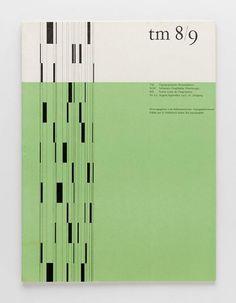 TM Typographische Monatsblätter, issue 8/9, 1957. Cover designer: Albert Gomm