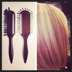 Curly hair styled out smooth and silky with shine. Kellie Little Groove Elliptic Hairbrush Hairbrush, Wavy Bobs, Bob Styles, Shiny Hair, Hair Type, Curly Hair Styles, Cool Stuff, Smooth, Glossy Hair