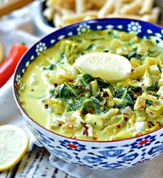 A Creamy & Spicy Coconut Cream Curry made with Bok Choy. Ideal to celebrate the Indian Diwali festival. Easy, low budget vegetarian curry recipe. By www.sweetashoney.co.nz #vegetarian #vegan #indiancurry