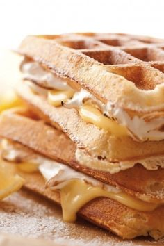 Lemon Meringue Pie Stuffed Waffles