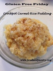 Crockpot Carmel Rice Pudding