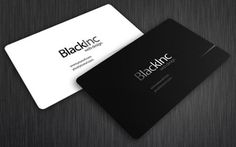 Tarjetas personales inspiradas en el negro