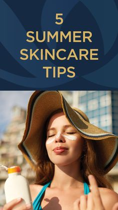 Summer Skin Care Tips Summer Skin Care Tips, Facial Rejuvenation, Wear Sunscreen, Summer Is Here, Picnics, Fun Activities, Healthy Skin, Your Skin, American