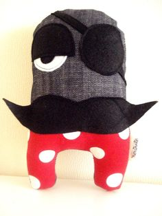 Pirate Inti Stuffed Toy by cronopia6 on Etsy, $15.00