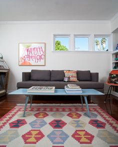 Love the colors in this mid-century modern!