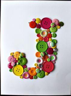 Colorful button J.