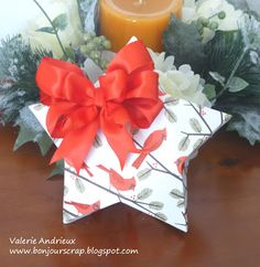 Star box as gift card holder with Merry Memories stack #Christmas #card #DCWV