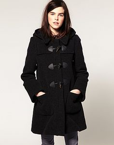 Gloverall Fit and Flare Wool Duffle Coat with Hood | My Style