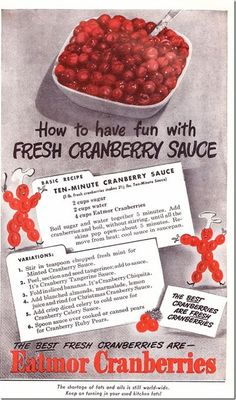 Ten-Minute Cranberry Sauce Recipe from the 1940s