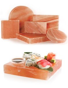 Our Himalayan Salt Blocks, Plates and Bricks are an exciting new way to cook and serve with salt...flavorful AND beautiful!
