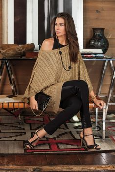 Shop classic cable-knit in party perfect gold from Lauren