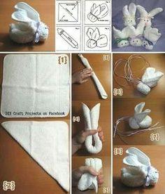 Bunny washcloths