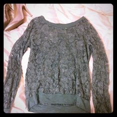 Forever21 teal lace long sleeve shirt Forever21 lace long sleeve shirt. Teal. Forever 21 Tops