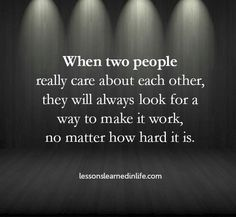 Quote: When Two People Really Care About Each Other…