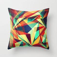 Broken Rainbow Throw Pillow by VessDSign - $20.00