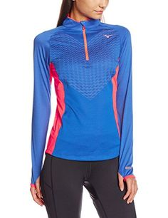 c393bdb9d Mizuno Women's Breath Thermo Body Mapping Long Sleeve 1/2 Zip Top:  Amazon.co.uk: Sports & Outdoors