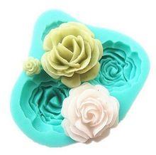 A buon mercato Promozionale 1 PZ 3D Rose Fiori forma Fondente Torta Al Cioccolato muffa del Sapone del silicone di cottura forme strumenti di cottura(China (Mainland))