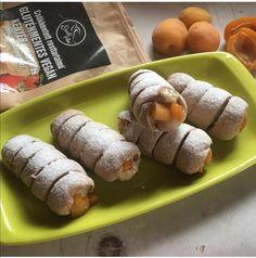 Karamellás-barackos roló 5db Izu, Sausage, Free, Vegan, Rolo, Caramel, Sausages, Vegans, Chinese Sausage