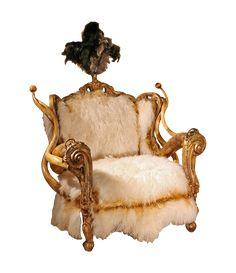 Artiste créateur de mobilier : Alligator, Cornes, Python, Zèbre...  Horns, exotic hides to craft his bizarre amalgamation of baroque and tribal styles into furniture.